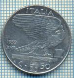 492 MONEDA - ITALIA - 50 CENTESIMI -anul 1939 - nemagnetica -starea care se vede