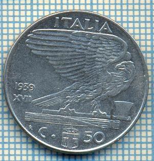 492 MONEDA - ITALIA - 50 CENTESIMI -anul 1939 - nemagnetica -starea care se vede foto