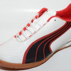 Ghete fotbal sala Puma 10230802, ORIGINALE, alb, negru, rosu, Marime: 35.5, Sala: 1