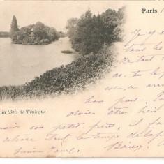 CPI (B2485) FRANTA, PARIS. LAC DU BOIS DE BOULOGNE, CIRCULATA 17. APR. 1899, STAMPILE; STAMPILA GOARNA NR. 46, Europa, Printata