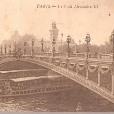 CPI (B2506) PARIS. PODUL ALEXANDRE III, PHOTOTYPIE C JEANGETTE PARIS, CIRCULATA, STAMPILE, TIMBRU, Europa, Printata