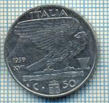 489 MONEDA - ITALIA - 50 CENTESIMI -anul 1939 - nemagnetica -starea care se vede