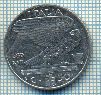 489 MONEDA - ITALIA - 50 CENTESIMI -anul 1939 - nemagnetica -starea care se vede foto
