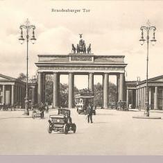 CPI (B2497) GERMANIA, BERLIN, BRANDENBURGER TOR ( POARTA BRANDENBURG ), EDITURA VERLAG GUSTAV MANDEL, SCRISA SI NECIRCULATA, DATATA 191O,, Europa, Printata