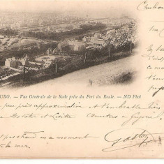CPI (B2486) FRANTA, CHERBOURG. VUE GENERALE DE LA RADE PRISE DU FORT DU ROULE. - ND PHOT, CIRCULATA 7 MAI 1901, STAMPILE, Europa, Printata