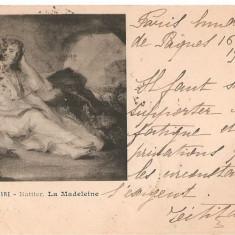 CPI (B2479) FRANTA, MUSEE DU LOUVRE - NATTIER. LA MADELEINE, CIRCULATA 16. APRILIE. 1900, STAMPILE, Europa, Printata
