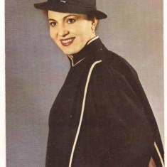 Carte postala(ilustrata) -Actori ai teatrului si cantului-IRINA LOGHIN
