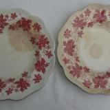 Doua farfurii vechi ptr. supa din portelan suedez Gefle