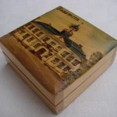Cutie din lemn inscriptionata Hedemora - Cutie Reclama