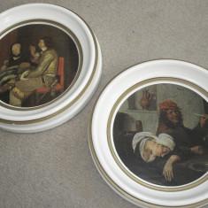 Set tablouri - litografie pe suport lemn - Reproducere