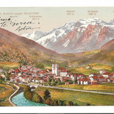 CPI (B2512) AUSTRIA, STEINACH am BRENNER GEGEN GSCHNITZTAL, EDITURA EIGEATUM VERLAG K. REDLICH, INNSBRUCK, CIRCULATA 31.AUG. 1912, STAMPILA, TIMBRU, Europa, Fotografie