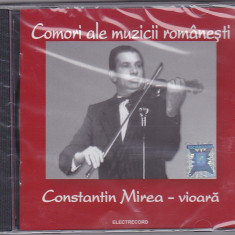 CD Constantin Mirea - vioara, muzica lautareasca, 27 melodii, in tipla