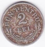 Ferdinand I. 2 lei 1924 fara sigla,monetaria Bruxelles