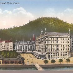 CPI (B2522) GERMANIA. KARLSBAD, GRAND HOTEL PUPP, CIRCULATA, STAMPILA, TIMBRU, Europa, Printata