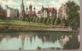 CPI (B2521) GERMANIA. KARLSBAD, WESTEND UND RUSSISCHE KIRCHE, CIRCULATA 18 IUN 1910, STAMPILE, TIMBRU, Europa, Fotografie