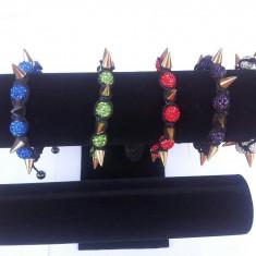 Bratara Shamballa cu cristale Swarovski (9 bile) si hematite  Chambala, bratara handmade MODEL NOU !