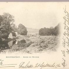 CPI (B2515) FRANTA. NEUFCHATEAU, BORDS DU MOUZON, EDITURA mp. BREVET LENOIR, CIRCULATA 25.SEPT. 1900, STAMPILE, TIMBRU, Europa, Printata