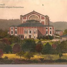 CPI (B2514) GERMANIA, BAYREUTH, RICHARD - WAGNER - FESTSPIELHAUS, EDITURA VERLAG v HUGO ROTHMAIER, CIRCULATA 7.AUG. 1912, STAMPILA, TIMBRU, Europa, Printata