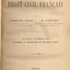 Ambroise Colin / H. Capitant - Cours elementaire de Droit Civil Francais ( 3 volume, 1914 - 1920 ) - Carte Drept civil