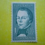 LIECHTENSTEIN- PETER KAISER 1793 -1864 / 1 VAL MNH 438A - Timbre straine