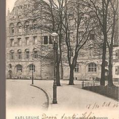 CPI (B2549) GERMANIA. KARLSRUHE, HAUS BILLING am KAISERPLATZ, EDITURA POSTKARTENVERLAG, CIRCULATA 30.10. 1906, STAMPILE, TIMBRU