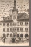 CPI (B2551) ELVETIA. LAUSANNE. HOTEL DE VILLE, FOTO. FRANCO - SUISSE BERNE, CIRCULATA 22.12.1905, STAMPILE, TIMBRE, Europa, Printata