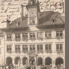 CPI (B2551) ELVETIA. LAUSANNE. HOTEL DE VILLE, FOTO. FRANCO - SUISSE BERNE, CIRCULATA 22.12.1905, STAMPILE, TIMBRE
