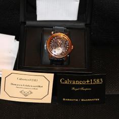 Calvaneo 1583 Evidence Diamon Rose Gold - Ceas barbatesc Calvaneo, Mecanic-Automatic