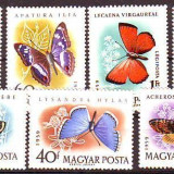 UNGARIA 1959 Fluturi, serie neuzată, MNH - Timbre straine