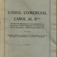 *** - Codul Comercial Carol al II-lea - 1938 - Carte Drept comercial