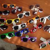 Ochelari de soare, Unisex, Negru, Dreptunghiulari, Plastic, Protectie UV 100%