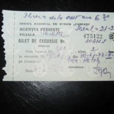 Bilet excursie Filiala Sinaia