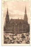 CPI (B2553) GERMANIA. AACHEN. RATHAUS, EDITURA KUPFERGRAVURE-KARTE von HERMANN LORCH, DORTMUND, CIRCULATA 31.7.1912, STAMPILA, TIMBRU, Europa, Printata