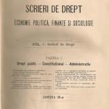 Dumitru N. Comsa - Scrieri de Drept ( partea I - Drept Public, Constitutional, Administrativ ) - 1913