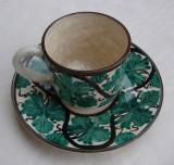 Ceasca cu farfurioara din ceramica emailata Cipru