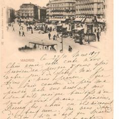 CPI (B2545) SPANIA. MADRID, PUERTA DEL SOL, CIRCULATA 24.MAR. 1899, STAMPILE, Europa, Printata