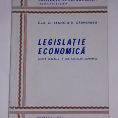 LEGISLATIE ECONOMICA- TEORIA GENERALA A CONTRACTELOR ECONOMICE- STANCIU CARPENARU- 1973 - Carte Legislatie