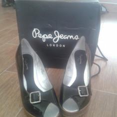 Platforme de vara Pepe Jeans - Pantof dama Pepe Jeans, Negru, Marime: 36.5