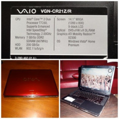 Sony Vaio VGN-CR21Z/R - Laptop Sony, Intel Core 2 Duo, 2 GB, 200 GB