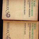 IOHN GALSWORTHY -COMEDIA MODERNA VOL 1--MAIMUTA ALBA -SI VOL 2 LINGURA DE ARGINT - Roman, Anul publicarii: 1971
