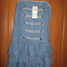 ROCHIE/ROCHITA MARINAR ALBASTRA NOUA! - Rochie de zi, Marime: S, Culoare: Albastru, Cu bretele, Bumbac