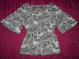 Bluza de gala Saix Young Fashion;marime XXL:55 cm bust,71 cm lungime totala etc., 54, Maneca scurta