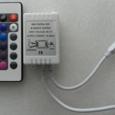 CONTROLLER RGB cu TELECOMANDA CONTROLER PENTRU BANDA LED RGB LEDURI 3528 5050 - NOUA