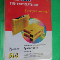 CS573 Cartus imprimanta Epson T0614 yellow 614 set 2 buc