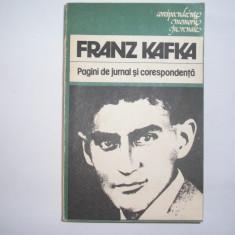 Pagini De Jurnal Si Corespondenta - Franz Kafka,RF