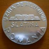 Medalie Uzina de Aluminiu ALRO Slatina, 1965, aluminiu, diametru 6 cm