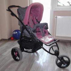 Caruciorul Atlanta 3 Bertoni Este format din scaunul sport, landou si geanta pentru mama. - Carucior copii 2 in 1 Bertoni, 0-6 luni, Pliabil, Gri, Maner reversibil