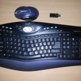 Tastatura + mouse wireless Genius ErgoMedia R710