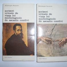 Michelangelo Buonarroti - Scrisori urmate de viata lui Michelagnolo de Ascanio Condivi (2 vol),RF1/1
