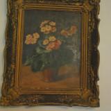 PICTURA VECHE PE PLACAJ.PICTOR N.POPOVICI - Pictor roman, Flori, Ulei, Altul
